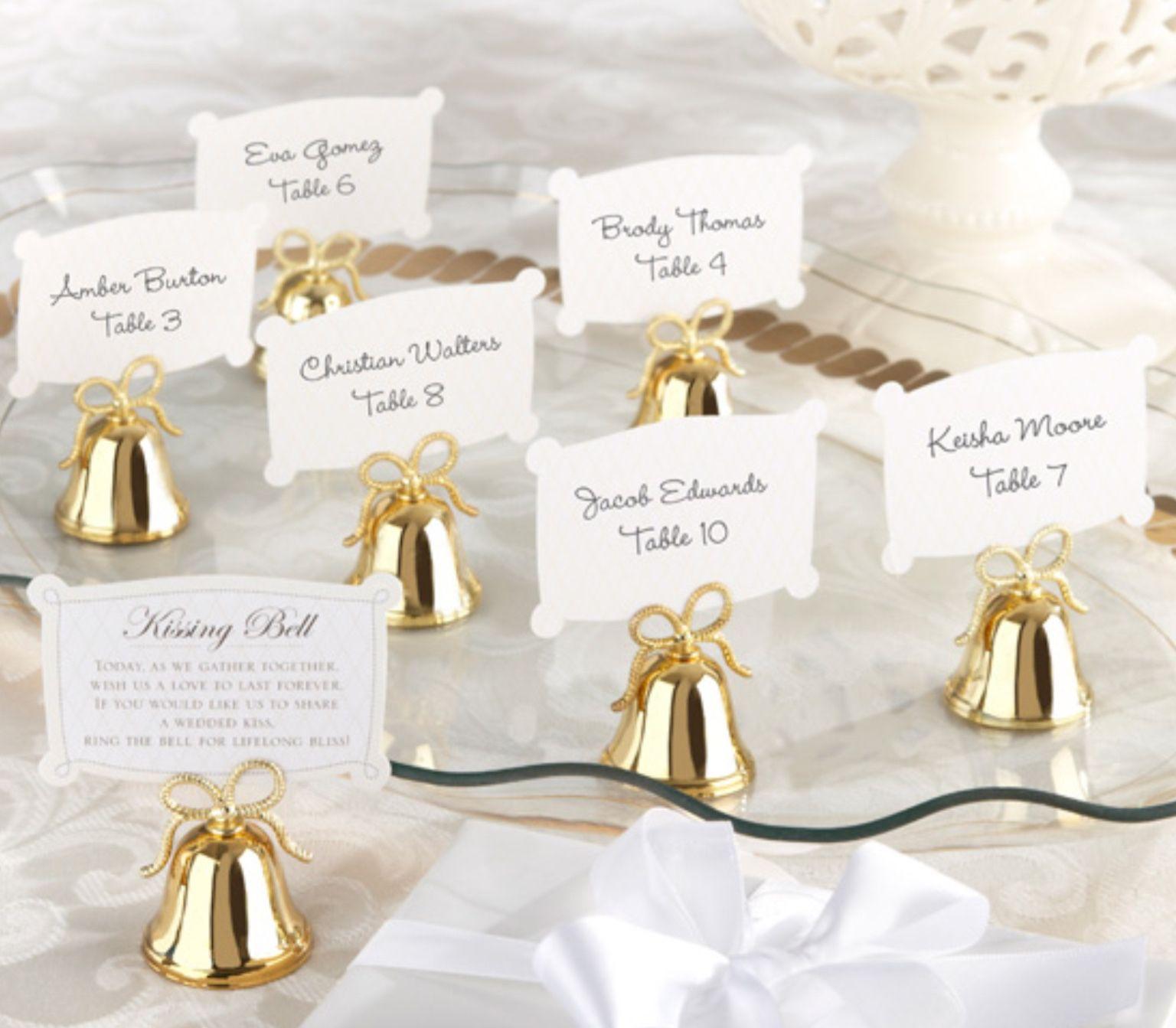 Kissing bells Placement card & favors   Sheer Elegance   Pinterest ...
