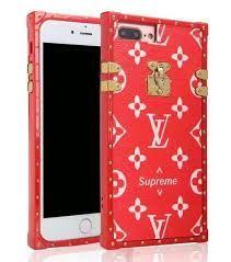 buy online 42c7e 7de17 Louis Vuitton TPU Red Flower Supreme Trunk Eye Soft Silicone Otter ...