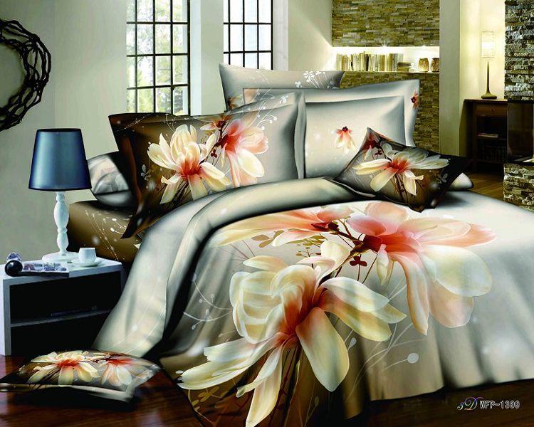 Big Flower Womenu0027s Ladies Girls 3d Queen Comforter Sets Bed In A Bag Teen  Bedding Down
