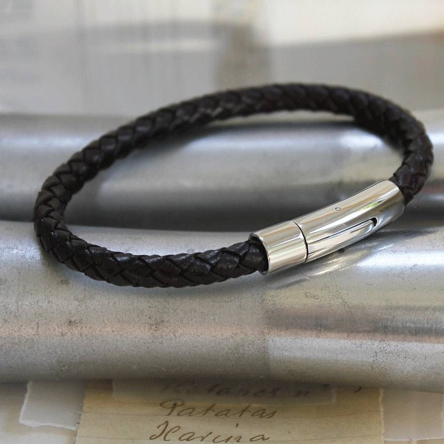 Mens Modern Leather Bracelet