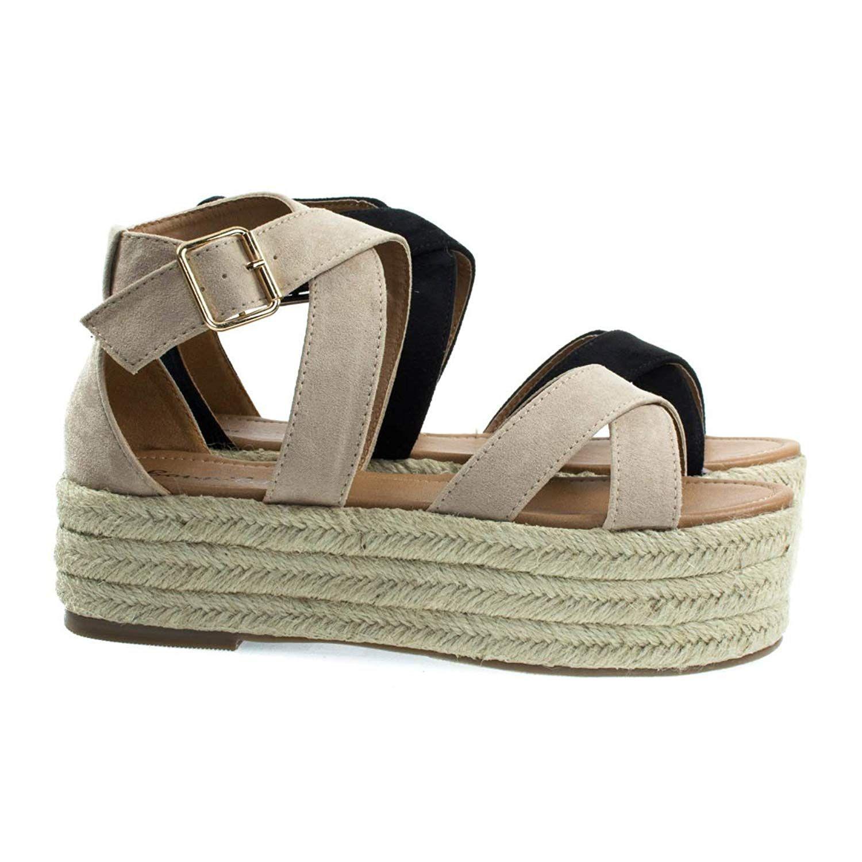 491050d5afb Bonnibel Fatima-1 Cute Sexy Expadrille Platfrom X Strap Sandals ...
