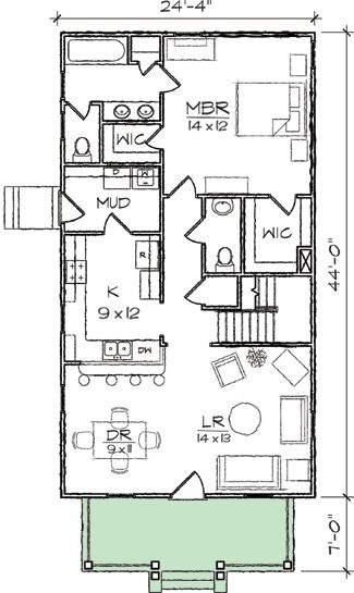 Plan 10032TT Arts  Crafts Narrow Lot House Plan in 2018 House