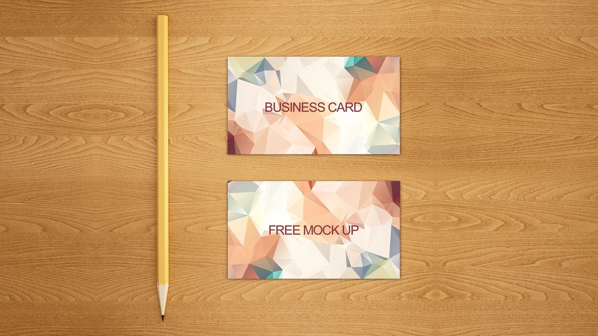Business card free mock up PSD by dimkoops