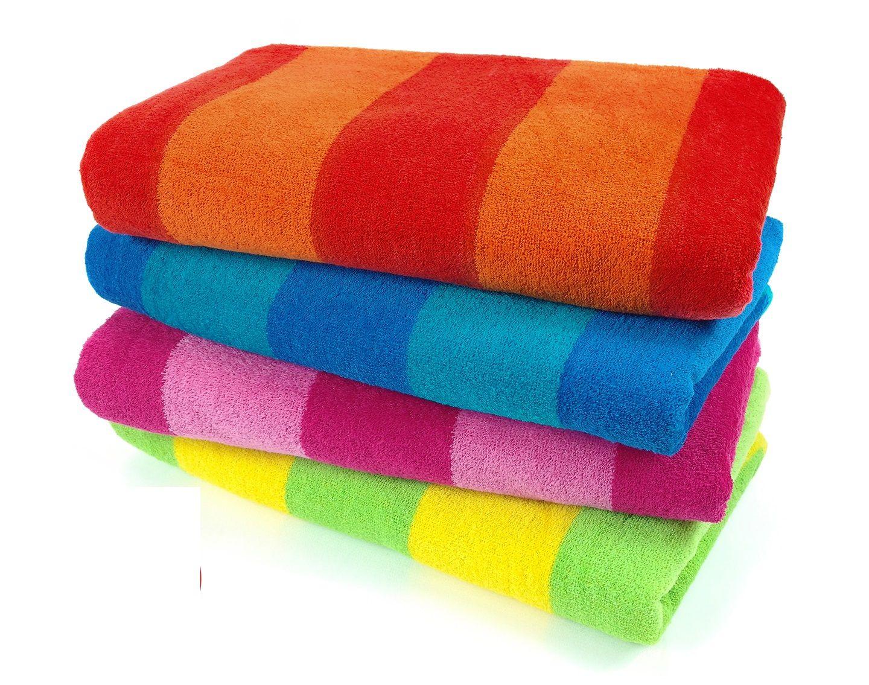 Bk Cabana Stripe Beach Towel Set