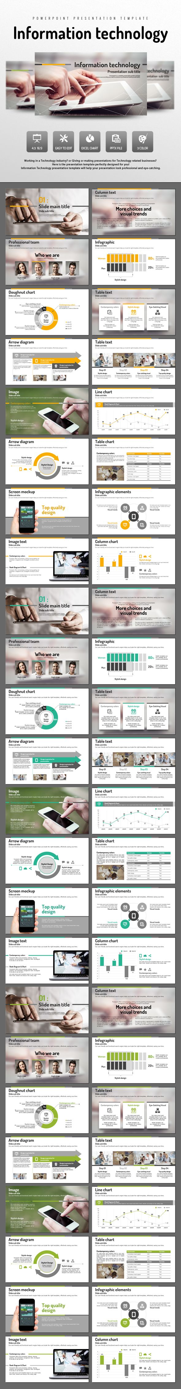 Information Technology (PowerPoint Templates) | Template, Ppt design ...
