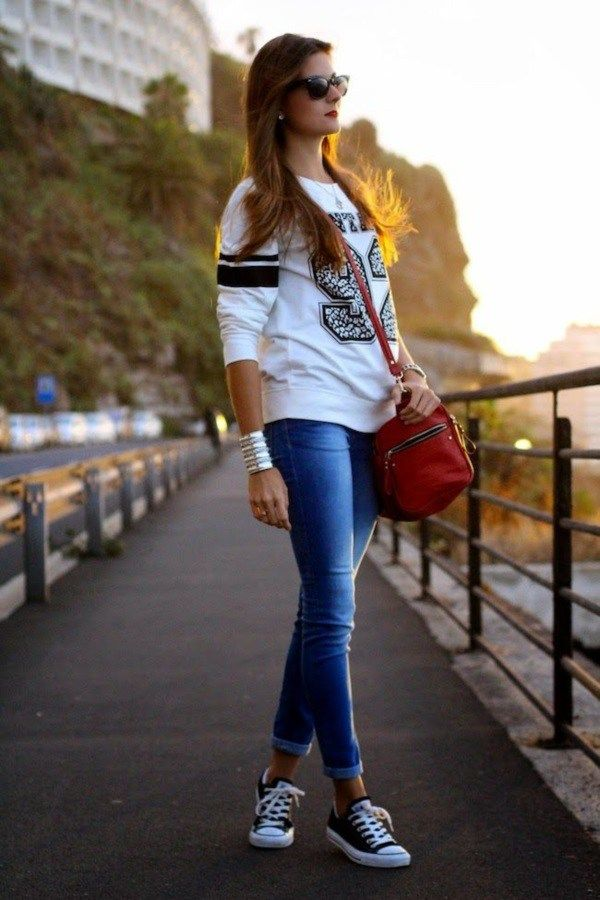 Wear with Converse Sneakers