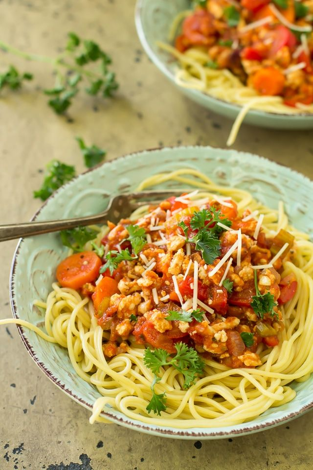 Veggie Turkey Bolognese - light and flavorful!   Recipe ...