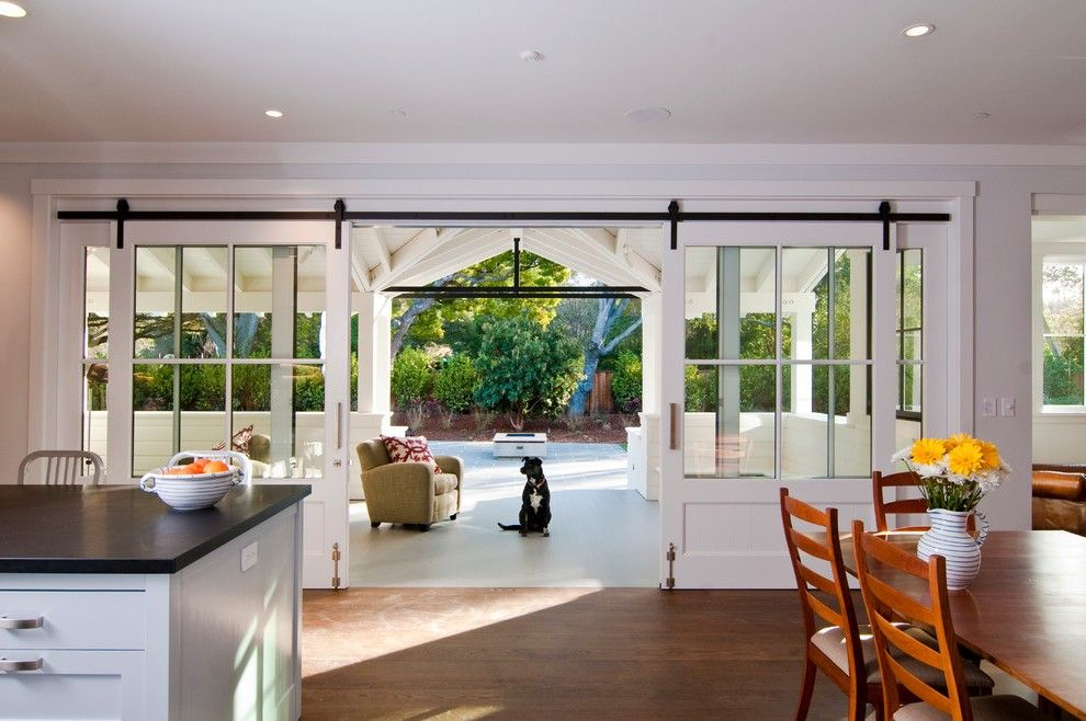 Sliding french doors interior entry farmhouse with back for French doors back porch