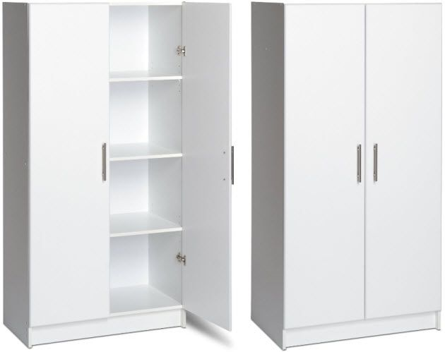 Modern Home Office Cabinet With White Storage Cabinets And Magnetic Swinging Doors 8 Inner Shelv White Storage Cabinets Storage Cabinets Tall Cabinet Storage