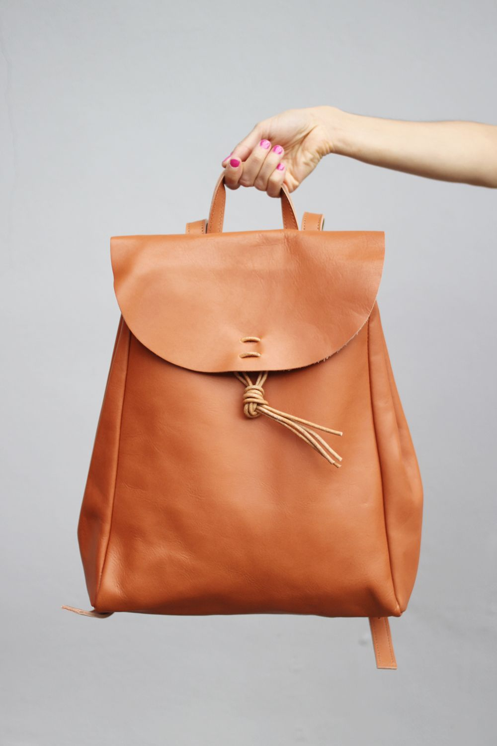 Vintage Style Hand Made Leather Backpack Styling and Photography by THE WHITEPEPPER