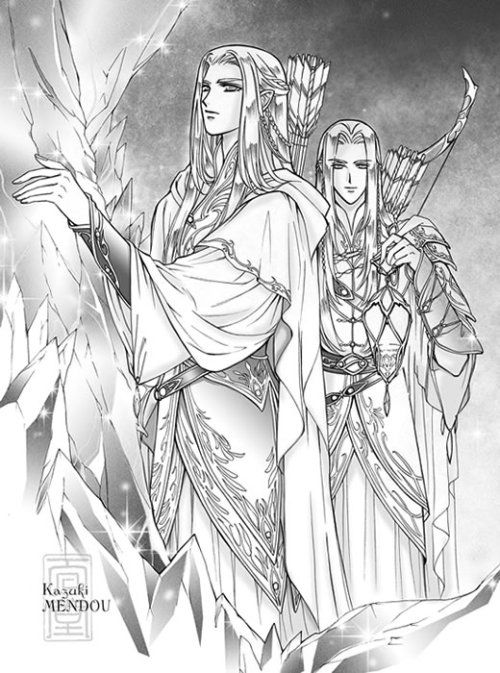 Oropher and Thranduil by kazuki-MENDOU | LOTR, The Hobbit and, The ...