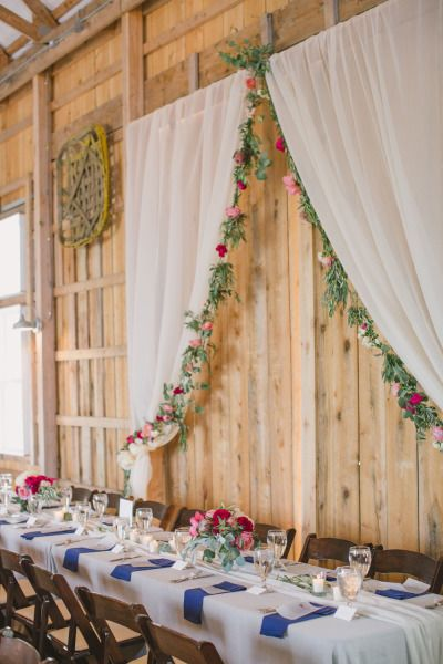Kentucky Barn Wedding Filled With Peonies Head Tables