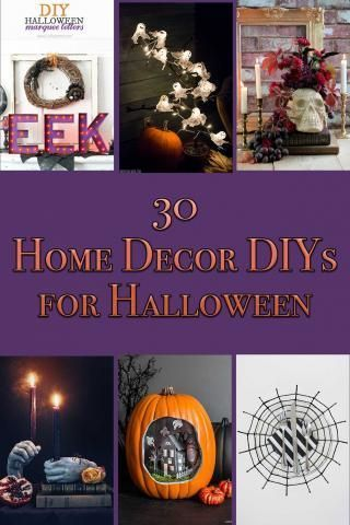 30 Home Decor DIYs for Halloween Halloween Decorating Pinterest
