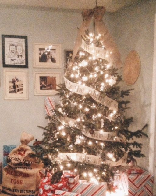 Burlap Christmas Tree Garland Names Of God And By Rustichomemade