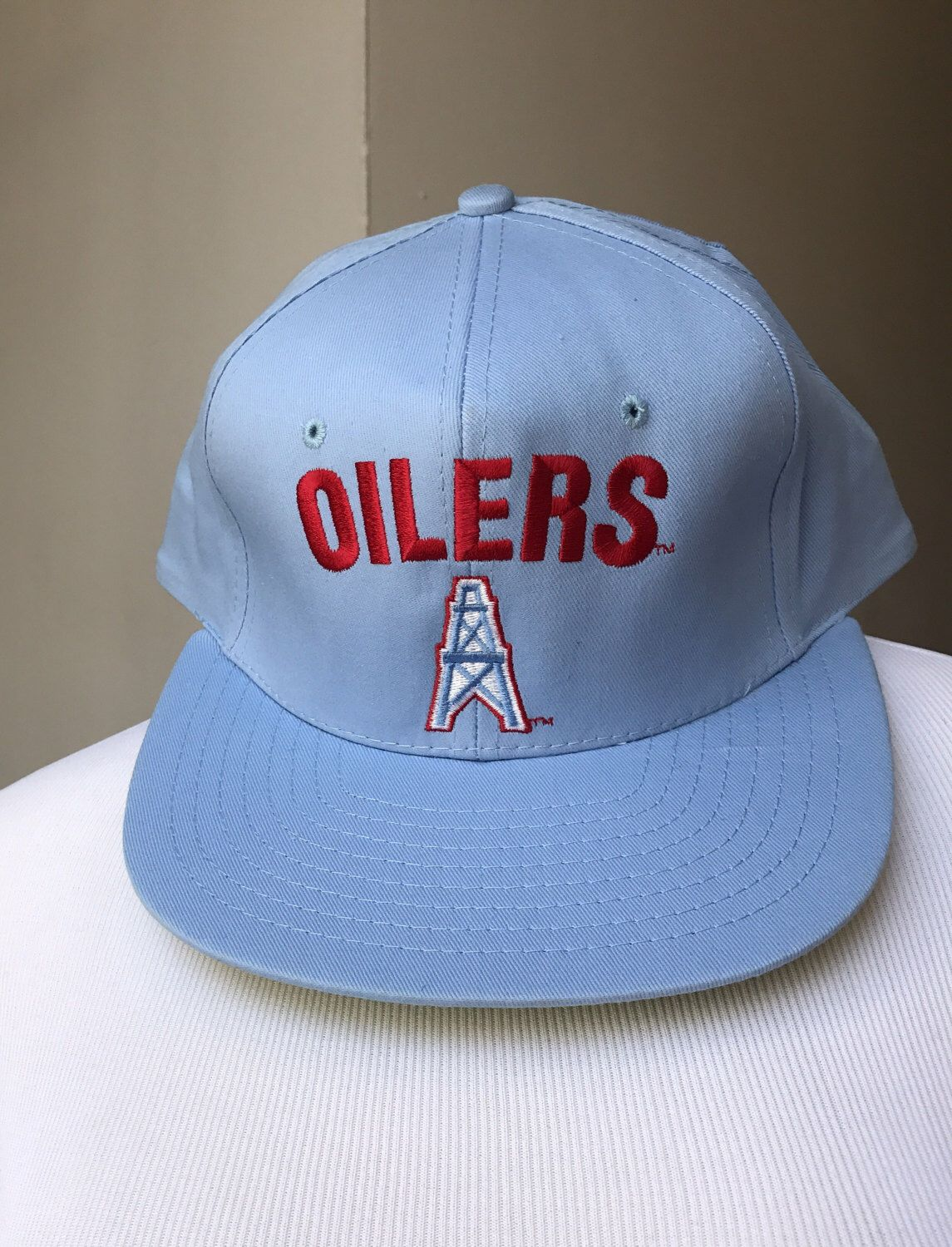 bf54a7abe90af5 Vintage Houston Oilers Hat | Baby Blue Oilers Football NFL Hat |  Discontinued Team | Collectible