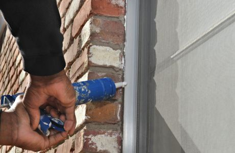 Caulking The Outside Of Your Windows Definitely Helps To Further Insulate Your Home We Did This On All Of Our Wind Drafty Windows Home Maintenance Home Repair