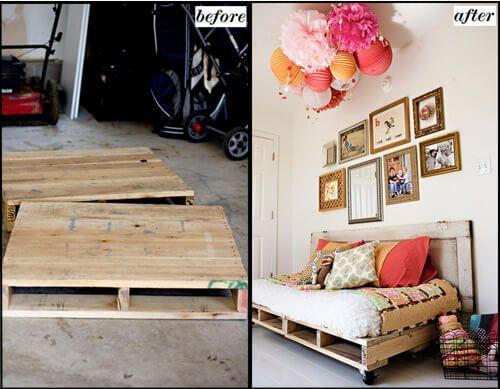 So kann man aus einer Europalette ein traumhaftes Bett basteln Check more at http://diydekoideen.com/so-kann-man-aus-einer-europalette-ein-traumhaftes-bett-basteln/