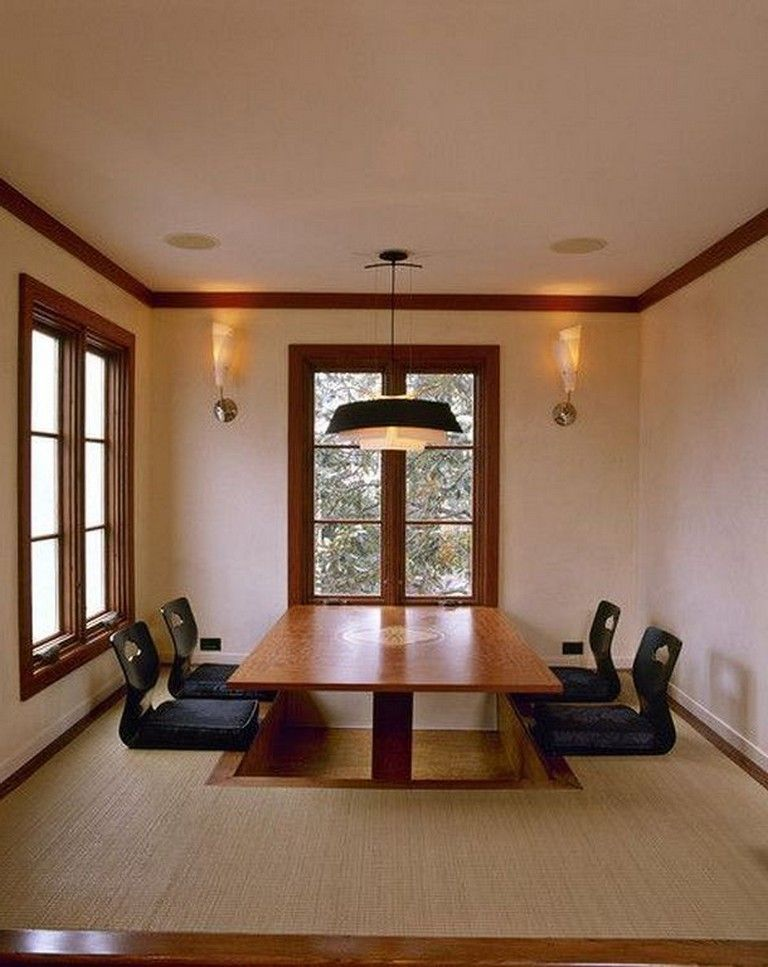 10 Elegant Japanese Dining Table Ideas Japanese Living Rooms