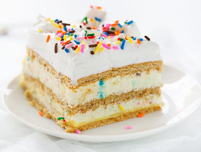 Birthday Cake Lasagna Glorious Cream Cheese Cake Batter Mousse