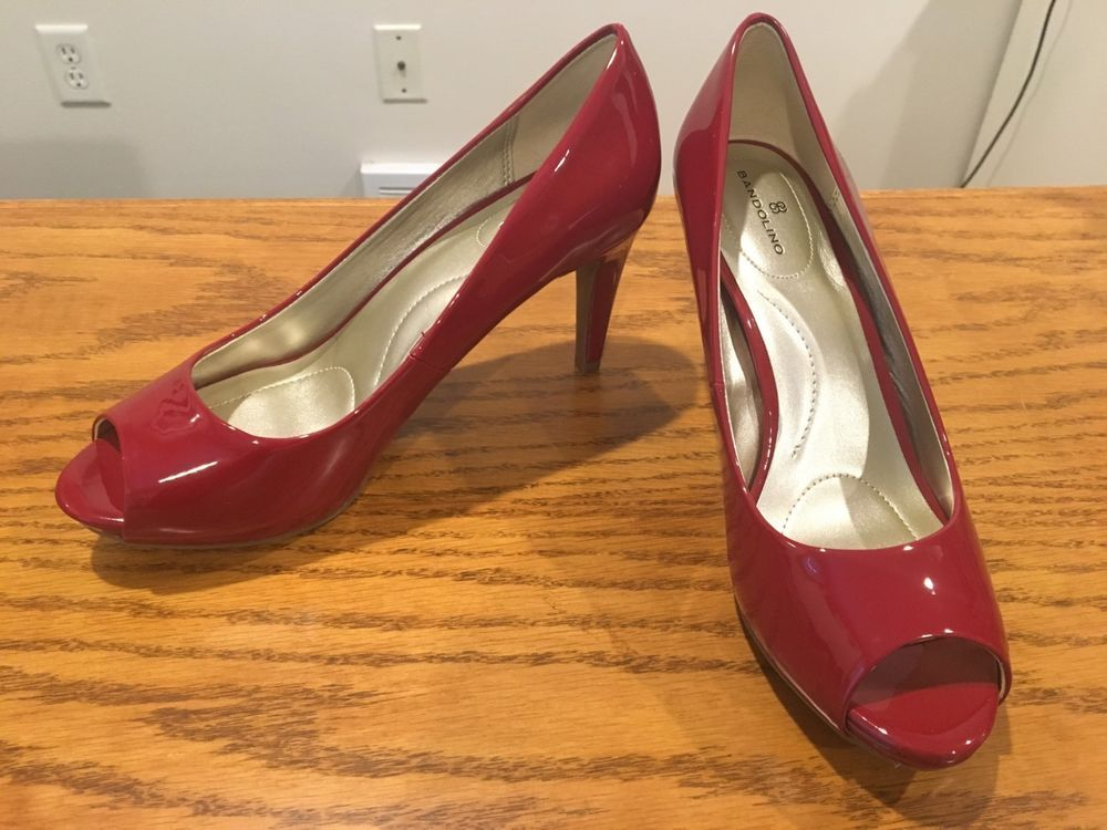 """Red Open Toe Pretty Open Stilettos 5.5/"""" Heels Womens Sandals Shoes Sz 7.5"""