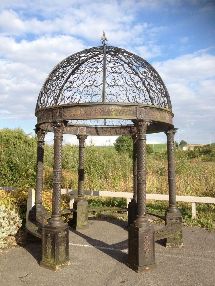 Victorian Style Cast Iron Gazebo Architectural Bandstand Gazebo Pergoda Ebay Gazebo Architectural Antiques Architecture