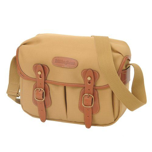 Billingham Hadley Small Canvas with Tan Leather Trim and Brass Fittings Khaki Camera or Document Shoulder Bag
