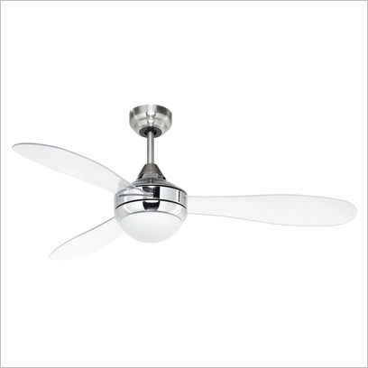 Jade 52 Fan With Clear Acrylic Blades