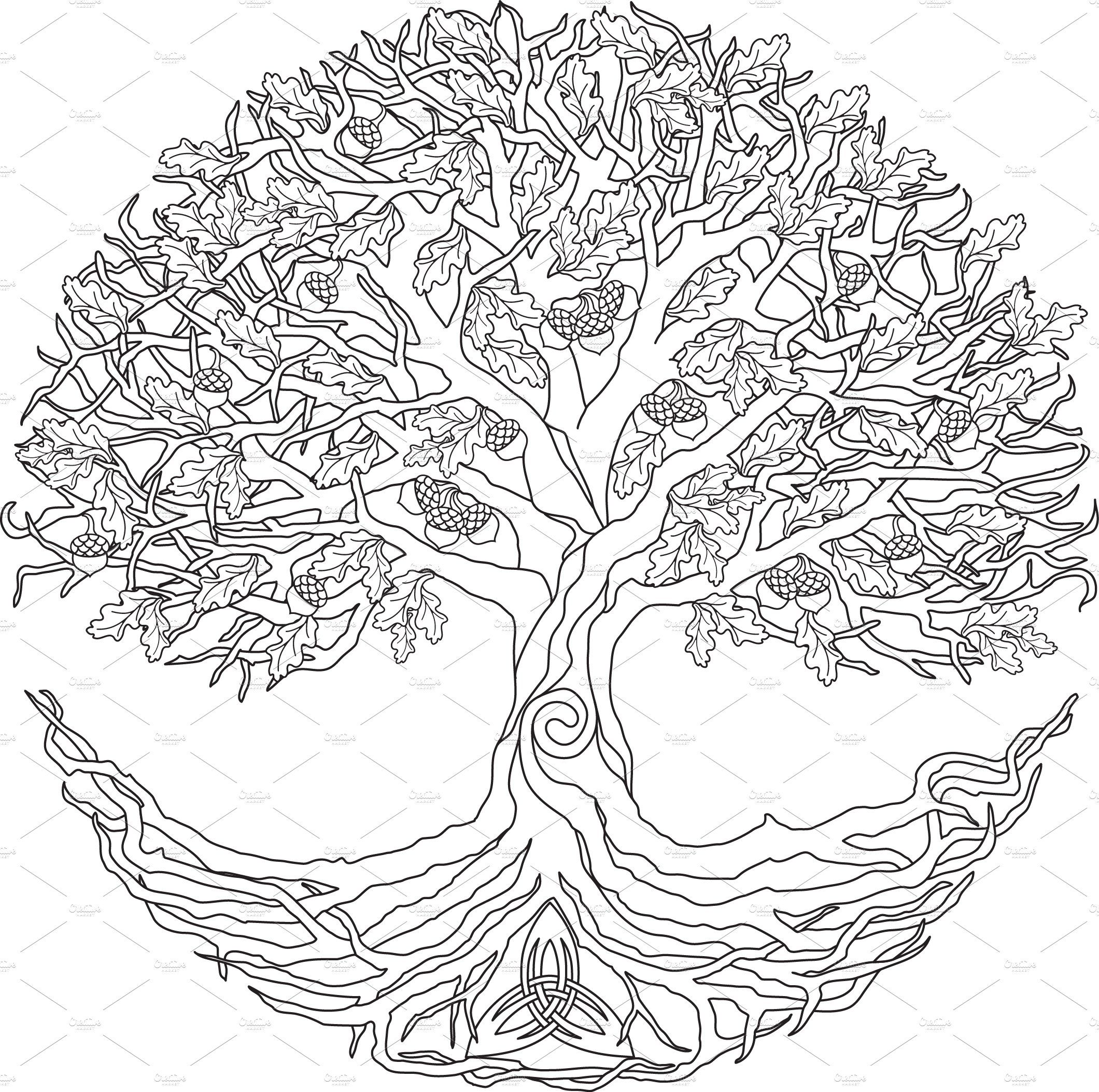 46++ Celtic tree of life coloring page free download