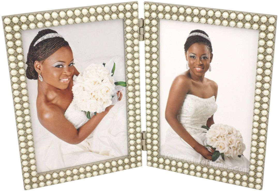 Double strand of pearls double picture frame double picture this double strand of pearls double picture frame will add elegance to your favorite set of pictures see our pearl picture frames online now jeuxipadfo Choice Image