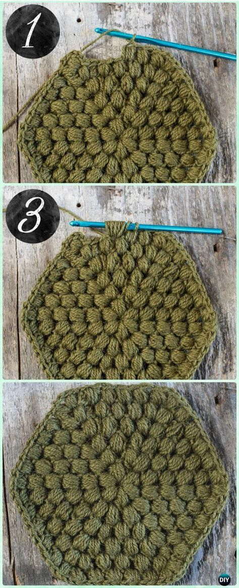Crochet Hexagon Motif Free Patterns | Crochet patrones, Ganchillo y ...