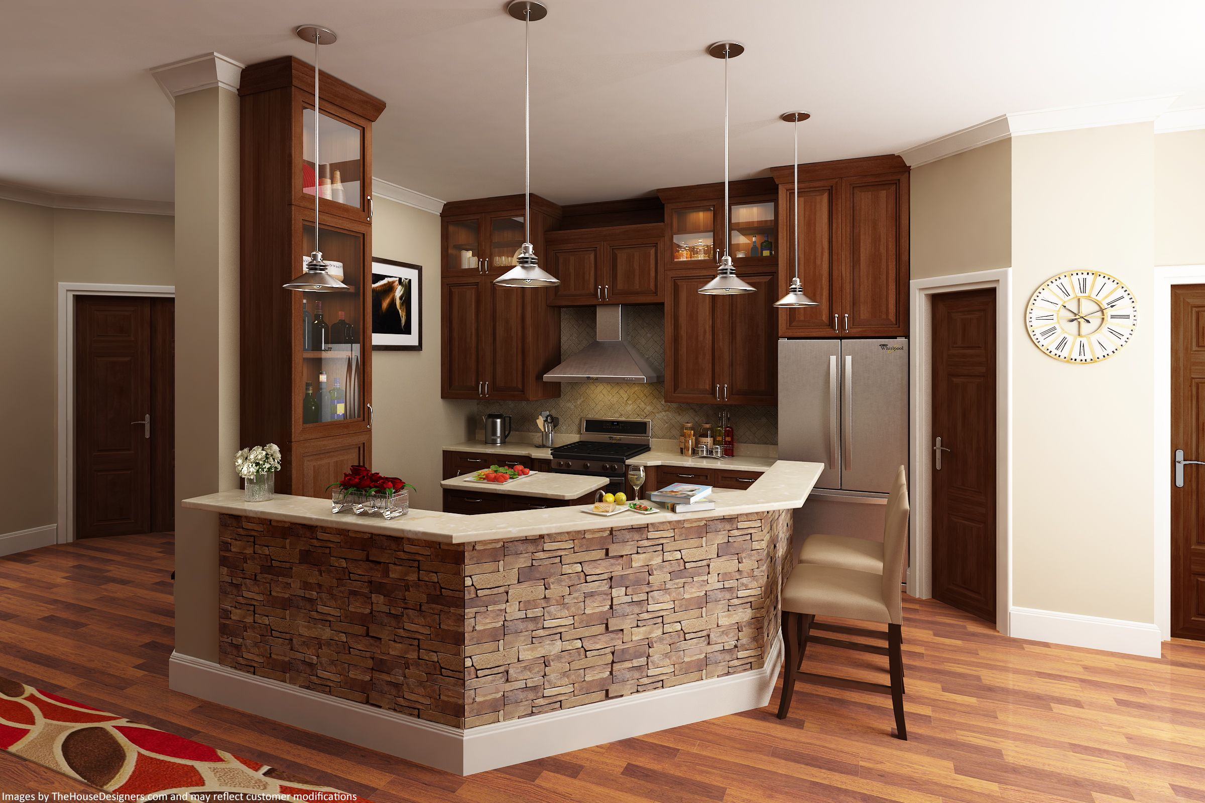 This Mid Size #kitchendesign Was Recently Updated For Our Best Selling  Craftsman #houseplan