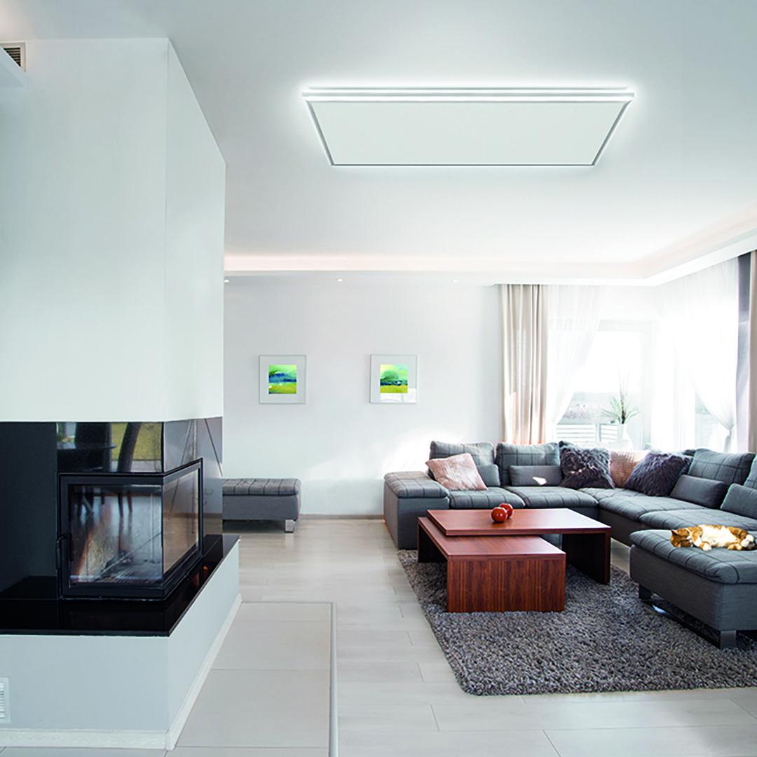 Warme Und Licht In Einem Jetzt Gibt Es Die Erste Infrarotheizung Mit Effizienter Led Technologie Der Easylight Lichtrahmen Wohn Design Wohnen Infrarotheizung