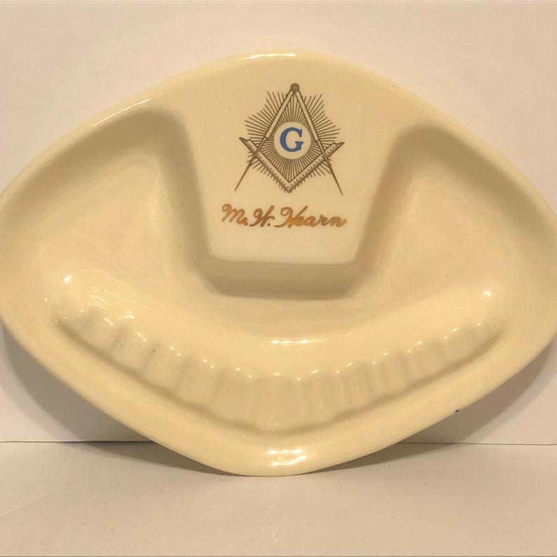 Freemason Vintage Ceramic Ashtray