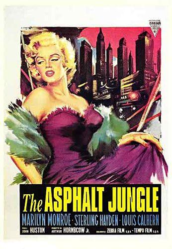 The Asphalt Jungle Marilyn Monroe Movie Poster Marilyn Monroe Movies Marilyn Monroe Poster Movie Posters Vintage