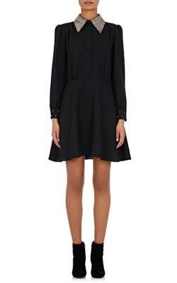 SAINT LAURENT Crystal-Embellished Cocktail Dress. #saintlaurent #cloth #dress