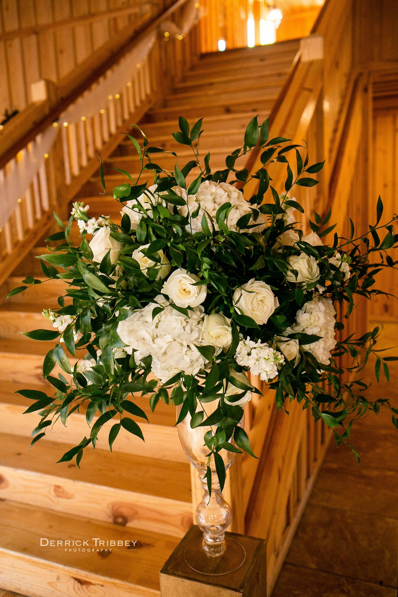 Elegant Wedding Venue Staircase Floral Arrangement White Wedding Reception Decor Weddin Wedding Decor Elegant Fun Wedding Decor White Floral Arrangements