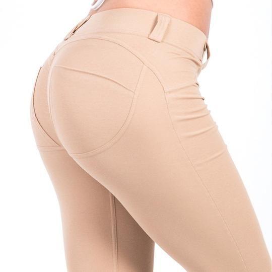 64869cb9600 Cute solid leggings with belt loops
