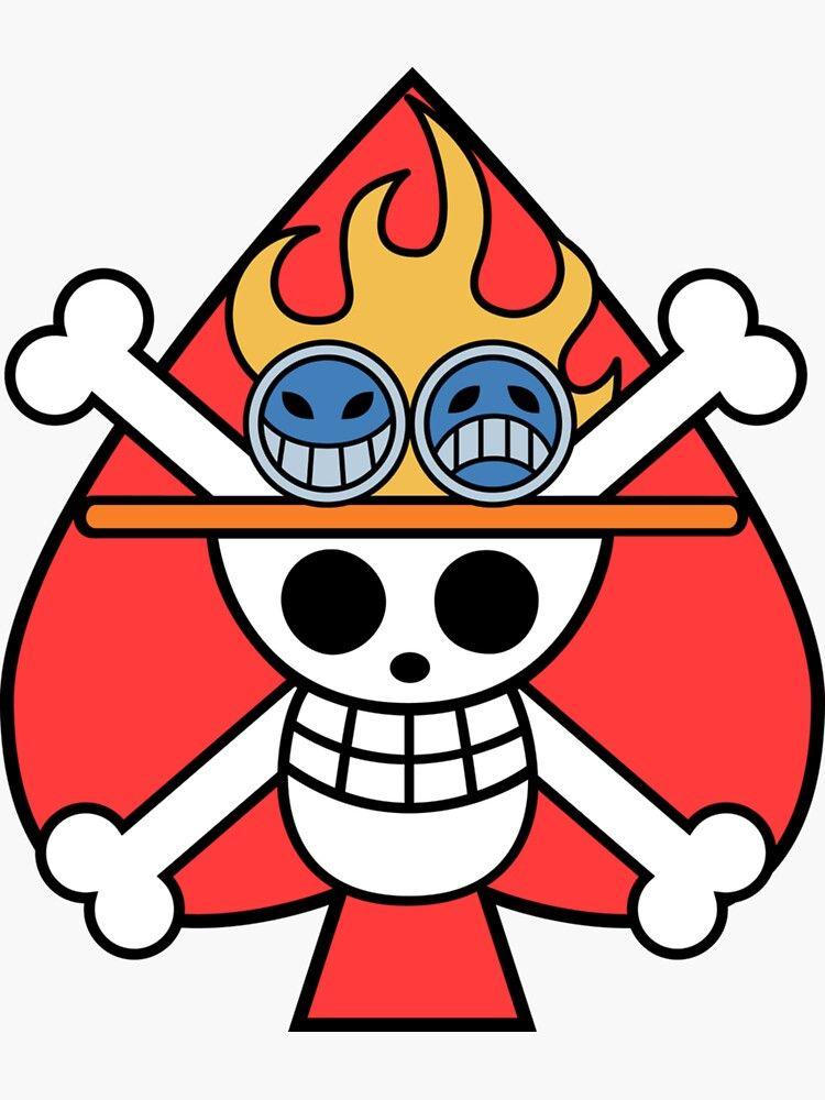 Pegatina ''Portgas D. Ace logo' de RigbyStore