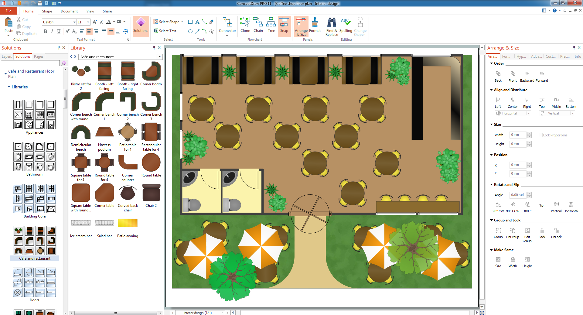 Coffee Floor Plan Layout
