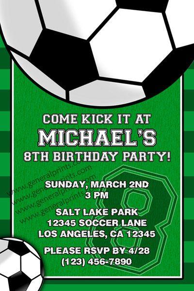 Soccer Invitation Invitations Pinterest Soccer party