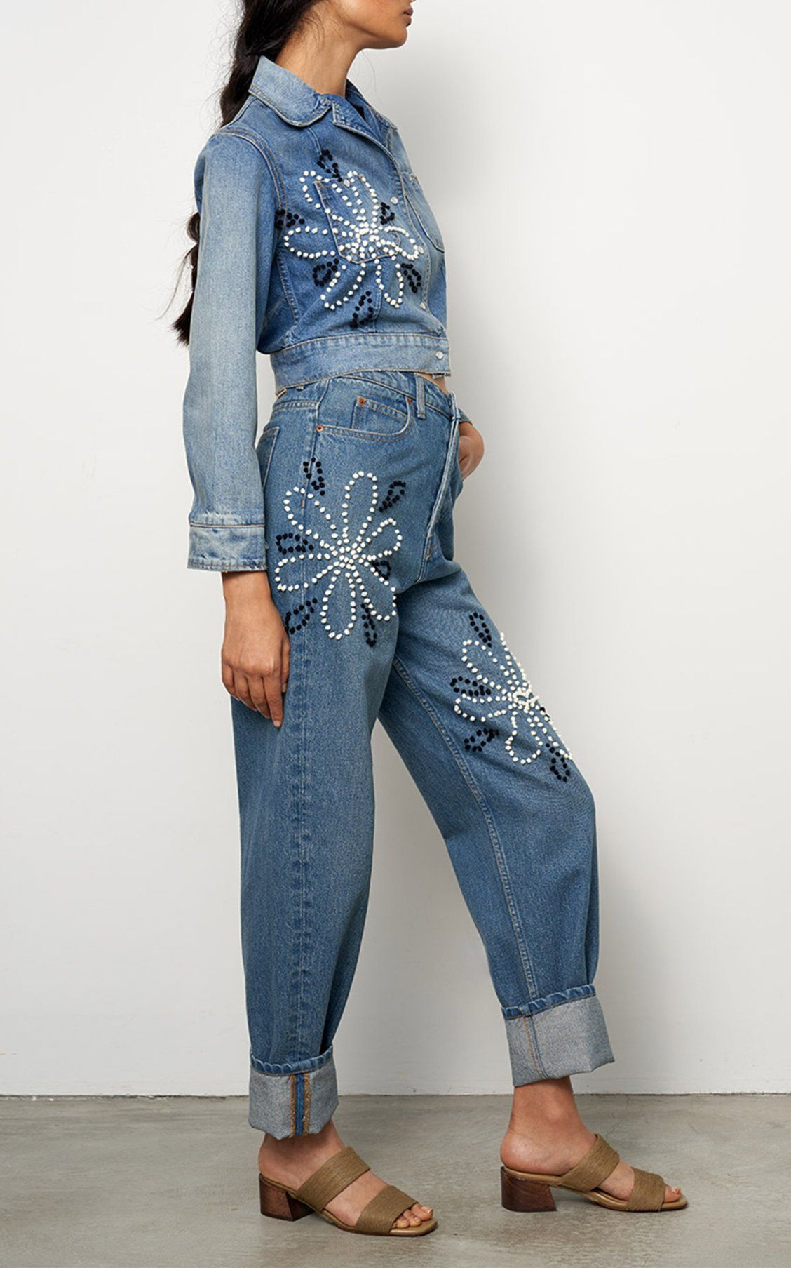 Claude High Rise Wide Leg Slouch Jeans By B Sides Ss19 Boho Denim Slouch Jeans Clothes For Women
