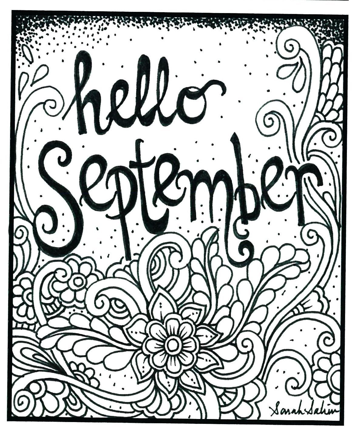 Hello September Colorful Pictures September Pictures Coloring