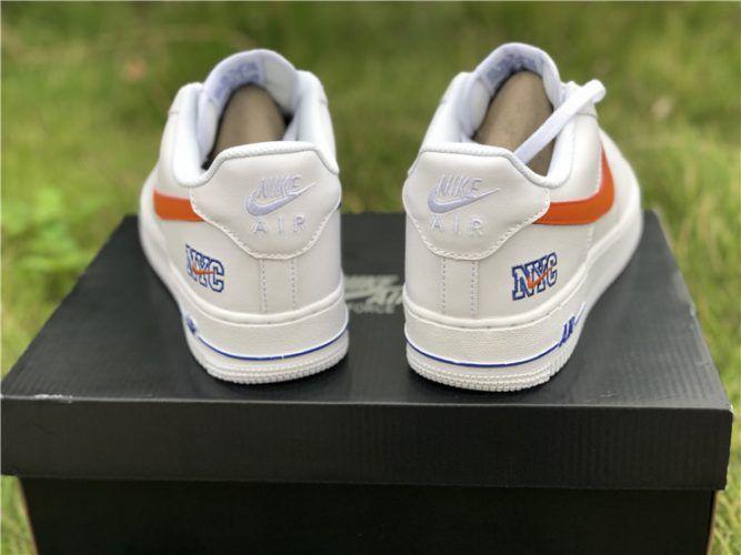 Nike Air Force 1 Low NYC HS WhiteSafety Orange Game Royal