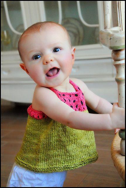 Strickanleitung für Wassermelonen Kindertop | Pinterest ...