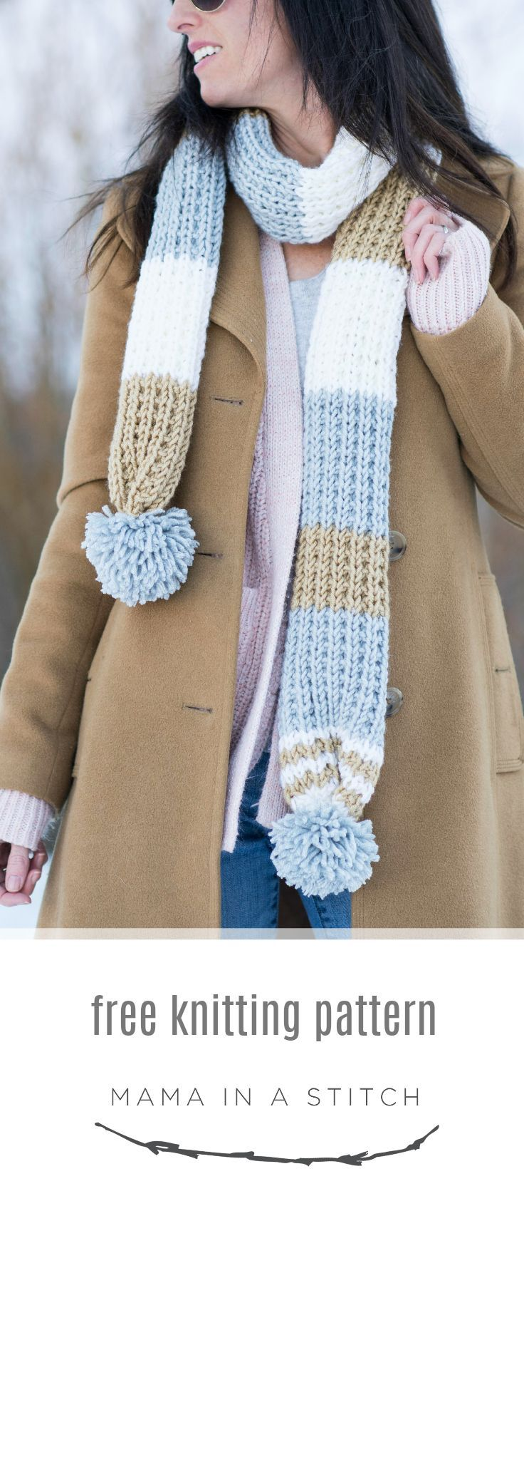 Photo of Fairbanks Pommed Knit Scarf Pattern