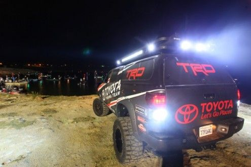You could see this Toyota from a mile away. 2013 Elite Series Rigid Industries Falcon Slam on Falcon Lake - Zapata, Texas, Mar 21 - 25, 2013.