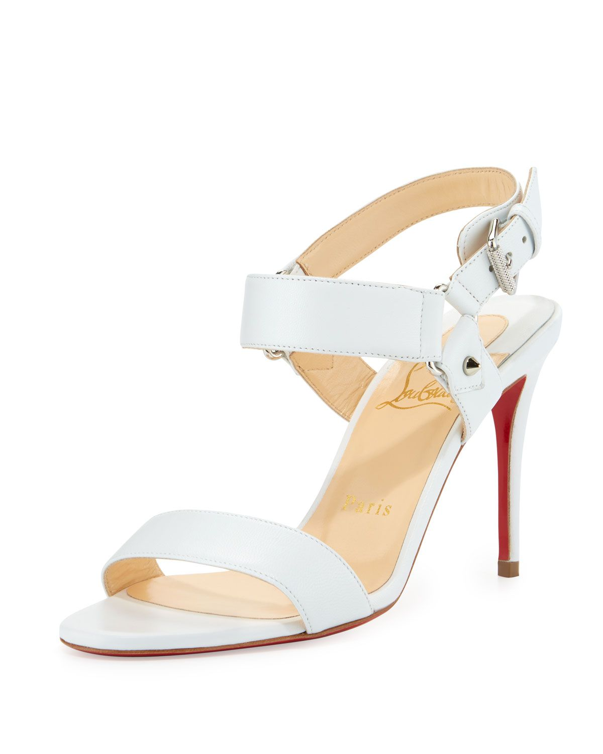 843804cfc2c Christian Louboutin Sova Leather 85mm Red Sole Sandal