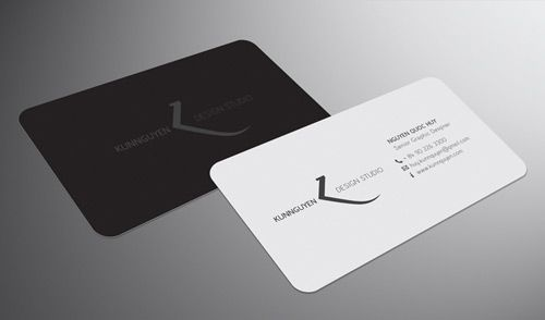 Neat and cool collection of black and white business cards thin and neat business card colourmoves