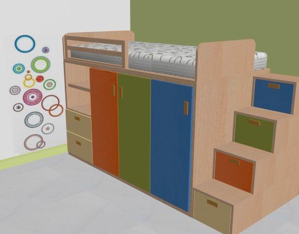 Cama y closet en un mismo mueble. La mejor manera de optimizar ...