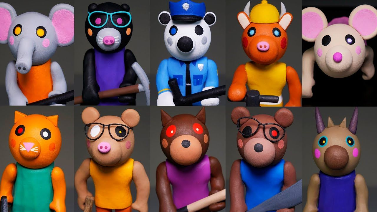 Roblox Piggy All Characters Fanart Making All Roblox Piggy Characters Part 3 Polymer Clay Tutorial In 2020 Polymer Clay Tutorial Clay Tutorials Piggy